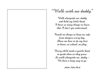 Fathers Day, 8x10 photo mat with poem