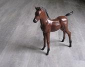 Vintage Brown Plastic Pony Horse Figurine