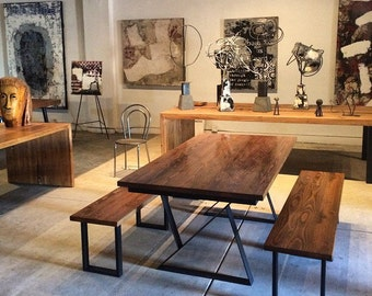 Beautiful Steel Dining Table | dining.conference | made in Dtla