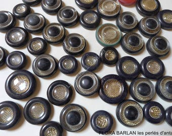 48 vintage buttons