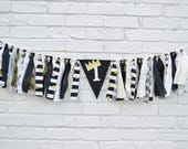Wild One 1st birthday banner - 1st birthday black and gold - 1st birthday banner - Wild One Birthday party - birthday banner - wild one