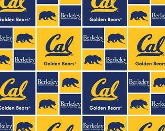 Cal Berkeley Golden Bears College Fabric from Sykel Enterprises