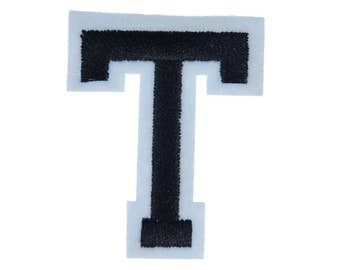 Letters Initials Alphabet ABC Hotifix Patch Hotfix Iron On Motif Application Sewing Miniblings 5cm Letter T