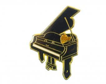 Piano Brooch pin Badge Miniblings grand piano classical piano wings gold