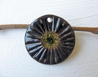 Sun Symbol Small Pendant Stoneware Clay