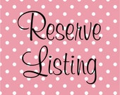 Reserved listing for 4my2gals