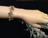 Vintage Coro Aurora Borealis Bracelet,  Vintage Jewelry, Coro Jewelry, Sixties Jewelry, 1960s Bracelet