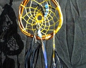 Dream catcher for clearing negative energy - onyx and chrysoberyl