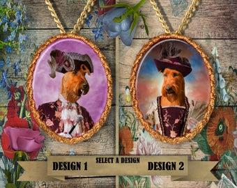 Irish Terrier Jewelry. Irish Terrier Pendant or Brooch. Irish Terrier Necklace. Irish Terrier Portrait. Custom Dog Jewelry.Handmade Jewelry