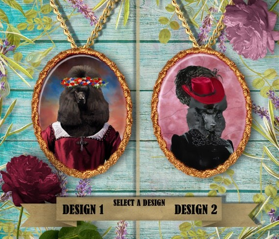 Standard Poodle Jewelry. POODLE Pendant or Brooch. POODLE Necklace.Poodle  Portrait.Custom Dog Jewelry by Nobility Dogs.Dog Handmade Jewelry