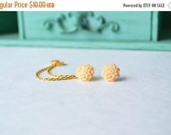 SALE Peach Mums Double Gold Chain Ear Cuff (Pair)