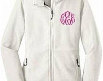 Monogrammed Bridesmaid Fleece Jacket, Personalized Wedding Party Fleece Jacket, Bridal Party Fleece Jacket, Bridesmaid Gift~Many Colors