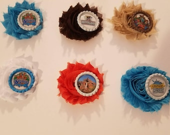 Splash Mountain Inspired Flower Hair Clips- Choose your color!