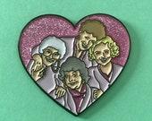 Golden Girls enamel pin heart lapel pin 4 th edition