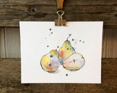 Fruits PostCard - Pears Postcard - Fruits Illustration