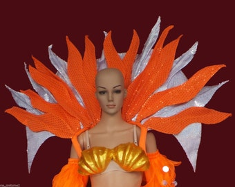 The Fire Sunlight Flower Princess Vegas Showgirl Backpack Wings