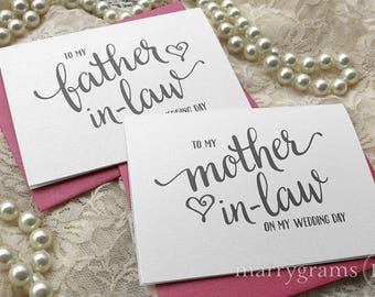 Wedding Card to Your Future Mother & Father in-Law - Parents of the Bride or Groom Cards, Mother of the Groom MIL Gift (Set of 2) CS15