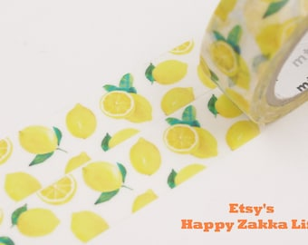 Fresh Lemon - mt Limited Edition - Japanese Washi Masking Tape - 7.6 yard - No Discount