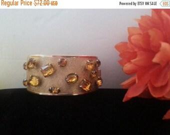 On Sale 1950's Rhinestone Bracelet * Vintage Chunky Bracelet * Mad Men Mod Era Vintage Jewelry * Old Hollywood Glamour