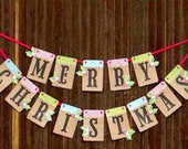 Christmas Banner Merry Christmas Letter Banner Christmas Bunting Christmas Decoration Christmas Garland Christmas Home Decoration