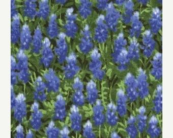 15% off thru 2/28 Texas Wildflowers IV  Moda fabric by the yard 100 Percent quilt weight cotton bluebonnets summer 32366-11