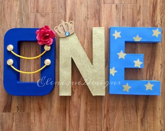 Little Prince/Le Petite Prince One letters (in royal blue)