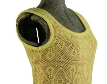 1960s Knit Beeline Dress