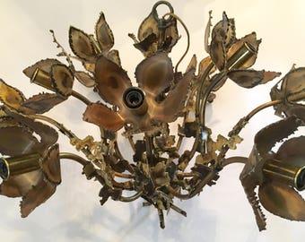 Brutalist Chandelier By Tom Greene