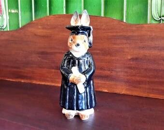 Goebel Graduation Rabbit Figurine #120 Getting The Diploma Gift