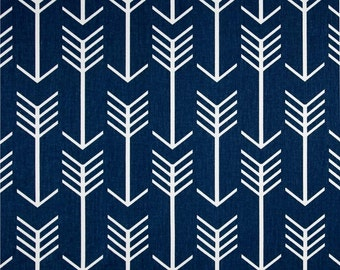 Navy Blue and White Arrow Curtain Panels 24W or 50W x 63 72 84 90 96 or 108L Curtains Window Treatments Drapes