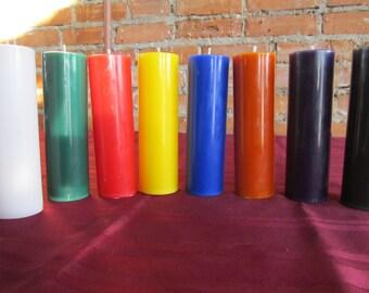 unscented pillar candles