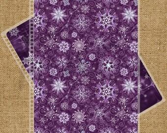 Purple Snowflake Custom Planner Cover for Erin Condren, Plum Paper Planner or Happy Planner