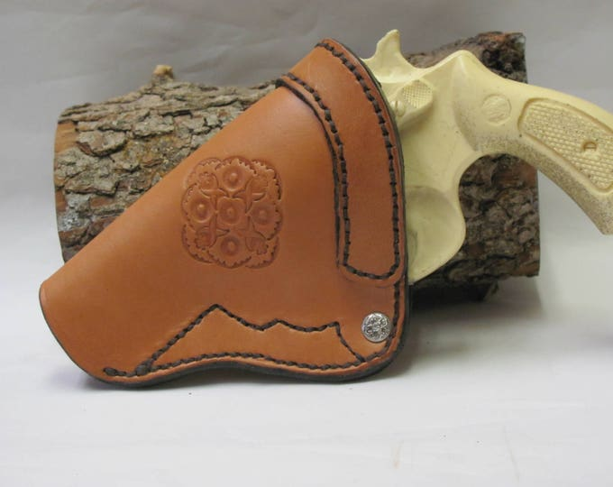 Holsters ,leather handgun holster, tan leather holster, Smith Wesson holster, J frame gun holster, Hand made leather holster, belts