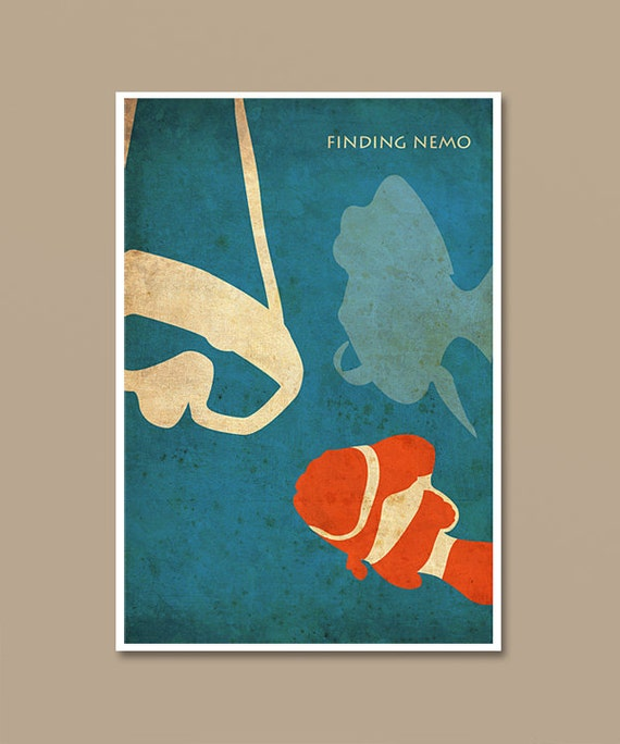 Pixar finding nemo vintage minimalist movie poster print like this item thecheapjerseys Images