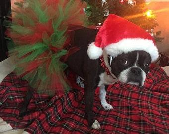 Christmas Dog Tutu: Christmas Red & Green Dog Tutu - Small, Medium, Large
