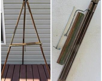 "64"" Easel Large Anco Bilt Wooden Vintage Artist Floor Tripod Painting Display Studio Field"