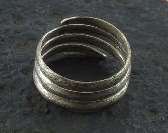 Authentic Ancient Viking Coil Snake Ring  C.866-1067 A.D. Size 10  1/2   (20.5mm)(brr1095) Vikking Ring