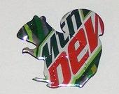 SQUIRREL Magnet - Mtn Dew - Mountain Dew Soda Can