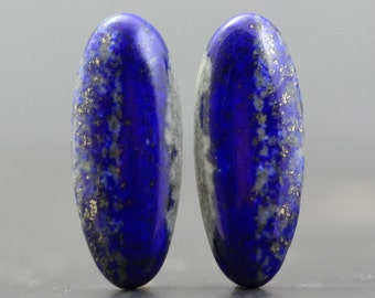 Afghanistan Lapis Lazuli Pair Glittering Gold and Rich Blue Earrings and Jewelry, Lapiz Lasuli (CA7250)