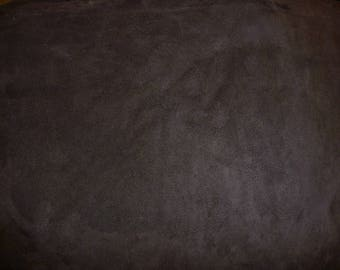 "Leather 12""x12"" NEW DARK Chocolate Brown Garment Quality Suede Cowhide Leather Hide 3.5-4 oz / 1.4-1.6mm PeggySueAlso™ E2825-20"