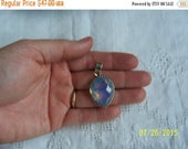 RESERVED, Special listing for George. EVERYTHING 20% OFF, Vintage Opalite Pendant. Sterling silver.