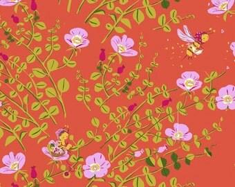 Half metre Coral Nanny Bee, OOP Heather Ross, Briar Rose