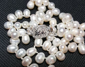 Freshwater baby rice pearls 16 inch strand