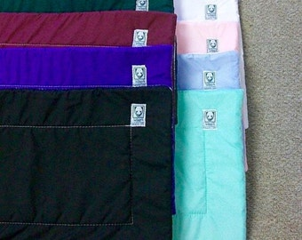 Wilkers COLORED embroidered combo leg wraps - set of 2