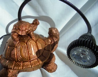 CLEARANCE, Turtle Stone Reading Lamp, Handmade, Shipping Included