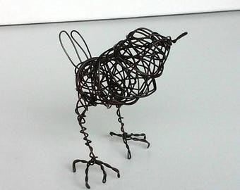 HOUSE WREN - Original Handmade Wire Bird Sculpture