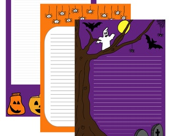 Halloween | Stationery printable | by-laura