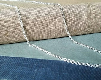 24 inch Silver color Necklace 3mm ,round loop chain, men's, women's, teens