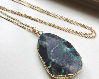 Jasper Necklace Jasper Jewelry - Statement Necklace - sediment necklace - as seen on Instagram