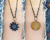 """Tin Jewelry Necklace """"Mod Gypsy"""" Tin for the Ten Year Tenth Wedding Anniversary"""